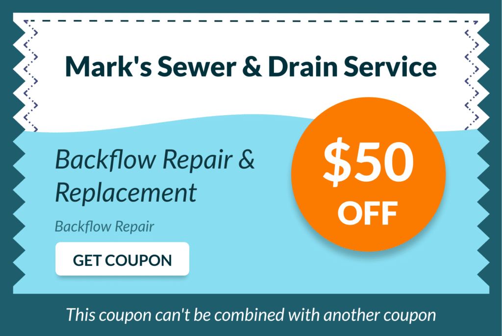Mark's Sewer and Drain Service Coupon 10