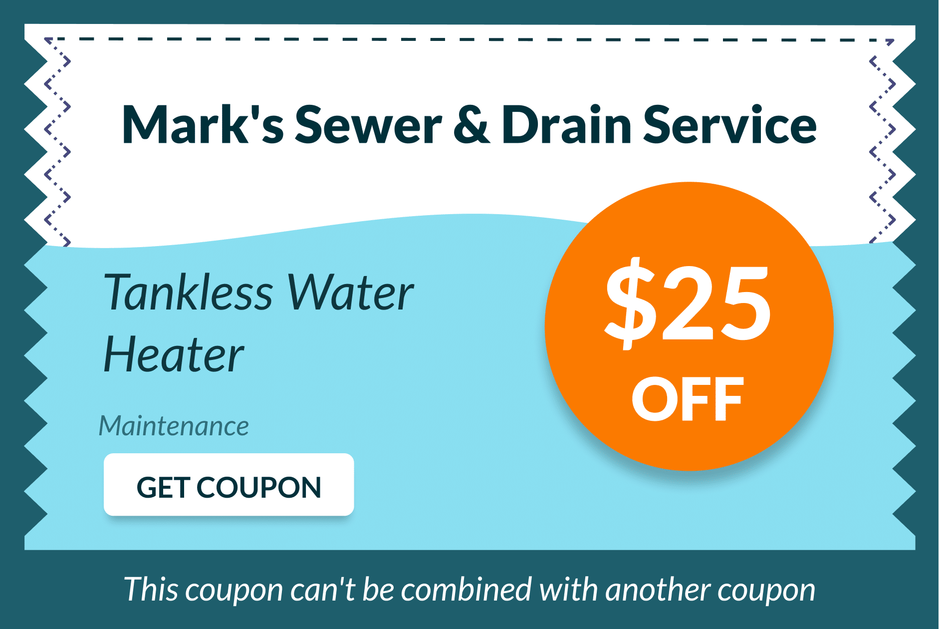 Mark's Sewer and Drain Service Coupon 3