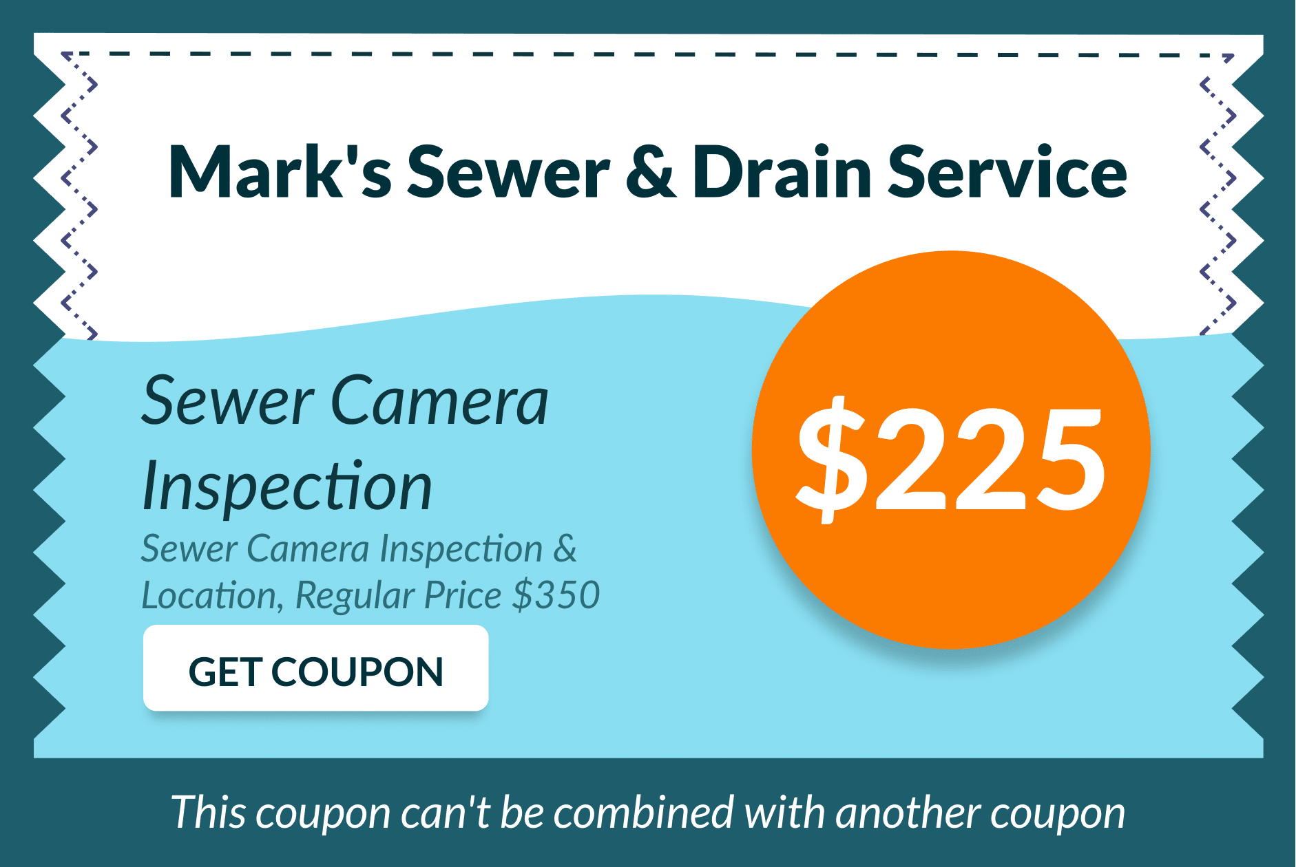 Mark's Sewer and Drain Service Coupon 14