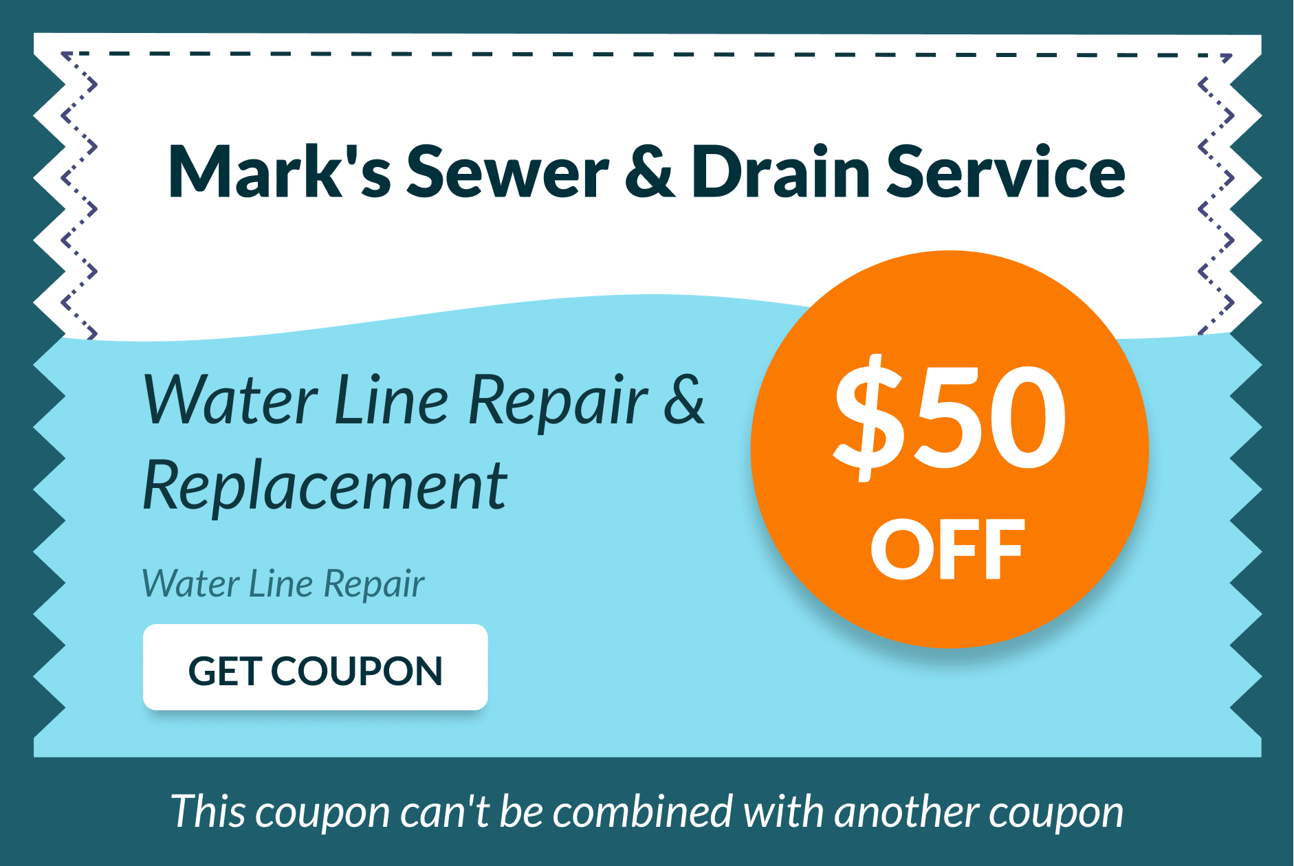 Mark's Sewer and Drain Service Coupon 7